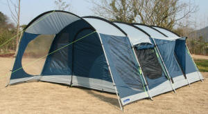Kampa Lulworth 4 and Kampa Lulworth 6 - roomy tents with a credit crunch beating price