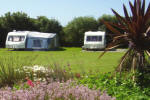 Touring caravans at The Willows